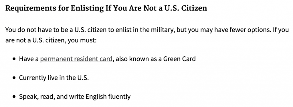 Requirements to Enlist in US Military